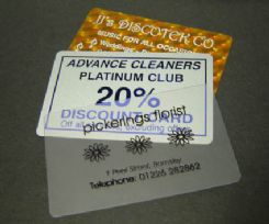 Plastic Business Cards - Hot Foil Blocking, Metalics Gold silver